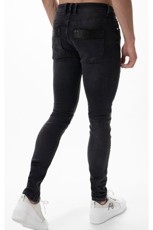 AB STRETCH JEANS TAPED POCKED