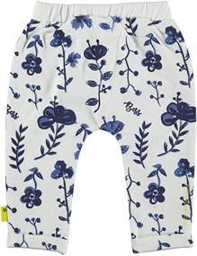 BESS PANTS AOP BLUE FLOWERS