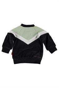 BESS SWEATER VELVET COLORBLOCK