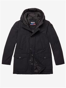 BLAUER IMPERMEABILE TRENCH LUNGHI IMBOTTITO
