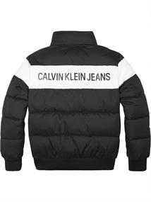 CALVIN COLOUR BLOCK PUFFER BOMBER