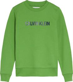 CALVIN KLEIN LOGO COTTON TERRY SWEATSHIRT
