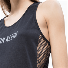 CALVIN KLEIN MESH INSERT TANK DRESS
