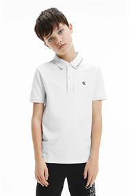 CALVIN KLEIN MONOGRAM CHEST FITTED POLO