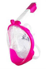 GEBRO FULL FACE SNORKEL MASK PINK S/M
