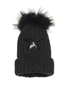 GOLDBERGH STARS BEANIE REAL RACCOON FUR