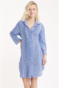 ICONIQUE ROMINA 3/4 SLEEVE SHIRT DRESS