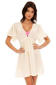 LULI FAMA DEEP V BASIC SHORT TUNIC