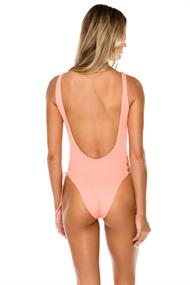 LULI FAMA INTERLACED OPEN SIDE ONE PIECE BODYSUIT