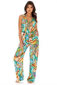 LULI FAMA LACED UP JUMPSUIT
