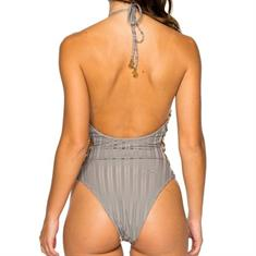 LULI FAMA RING SIDE HIGH LEG ONE PIECE