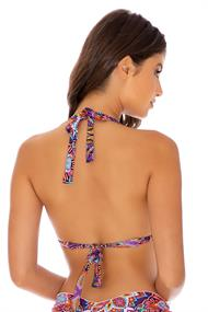 LULI FAMA TRIANGLE HALTER TOP