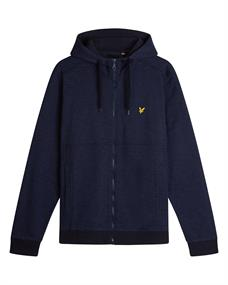 LYLE&SCOTT SPACE DYE ZIP TROUGH
