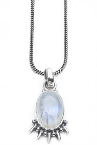 MOOST WANTED MOONSTONE EYE NECKLACE 50 CM