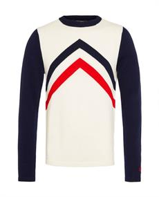 PERFECT MOMENT CHEVRON STRIPES CREWNECK SWEATER