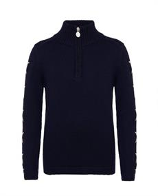 PERFECT MOMENT STAR HALF-ZIP SWEATER