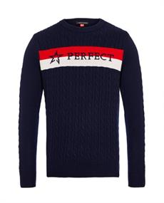 PERFECT MOMENT SUPER STRIPES CREWNECK SWEATER