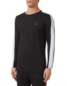 PLEIN SPORT T-SHIRT ROUND NECK LS STATEMENT