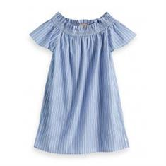 SCOTCH COTTON OFF-SHOULDER DRESS