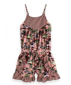 SCOTCH DRAPEY WOVEN PRINT MIX PLAYSUIT