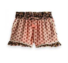 SCOTCH DRAPY WOVEN PRINT MIX SHORTS
