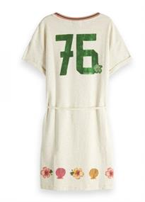 SCOTCH JERSEY SHORT SLEEVE DRESS