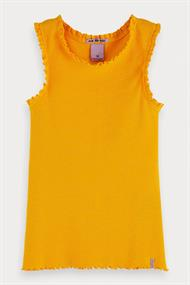 SCOTCH&SODA BASIC RIB TANK TOP WITH LACE