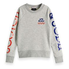 SCOTCH&SODA BASIC SWEAT WITH PRINT