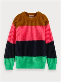 SCOTCH&SODA CHUNKY COROR FULL CREW NECK