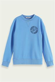 SCOTCH&SODA CREW NECK SWEAT WITH ARTWORK