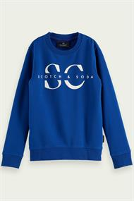 SCOTCH&SODA CREW NECK SWEAT WITH LOGO