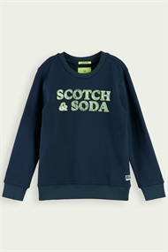 SCOTCH&SODA CREWNECK SWEAT WITH MARBLE ARTWORK