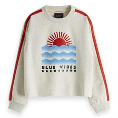 SCOTCH&SODA CROPPED CREW NECK SWEAT