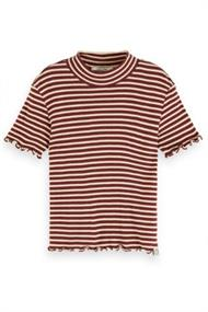 SCOTCH&SODA FITTED SHORT SLEEVE TEE WITH HIGH NECK