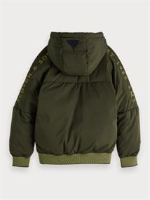 SCOTCH&SODA HOODED BOMBER JACKET