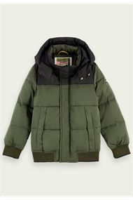 SCOTCH&SODA HOODED JKT WITH PADDING+CONTRAST YOKES