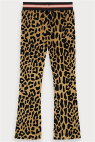 SCOTCH&SODA LEOPARD ALL-OVER PRINTED VELVET FLARE