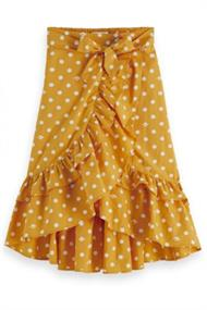 SCOTCH&SODA MAXI LENGHT WRAP SKIRT WITH RUFFLES