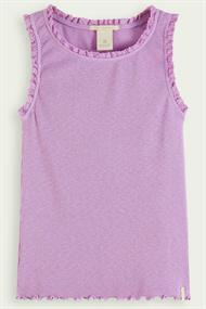 SCOTCH&SODA ORGANIC COTTON BASIC RIB TANK TOP