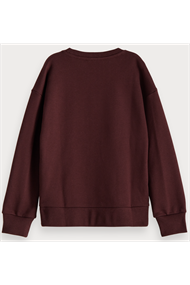 SCOTCH&SODA ORGANIC COTTON CREWNECK VELVET