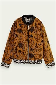 SCOTCH&SODA REVERSIBLE BOMBER JACKET WITH PRINT