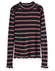 SCOTCH&SODA RIB KNIT LONG SLEEVE TEE