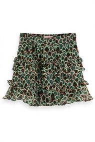 SCOTCH&SODA SHORT LENGHT DRAPEY SKIRT ALLOVER PRT