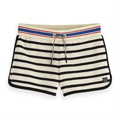 SCOTCH&SODA SHORT WITH PRINTED STRIPES
