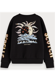 SCOTCH&SODA SHORTER LENGTH SWEAT WITH ARTWORKS