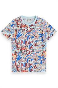 SCOTCH&SODA TEE WITH ALL-OVER PRINT