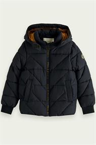 SCOTCH&SODA WATER-REPELLENT HOODED JACKET