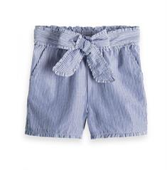 SCOTCH YARN DYE STRIPED COTTON SHORTS