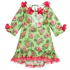 SELINI ACTION DRESS ANANAS GREEN