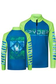 SPYDER PEAK ZIP T-NECK